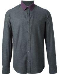 Kenzo Contrast Collar Shirt - Lyst