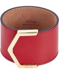 Fendi 2 Jours Leather Bracelet - Lyst