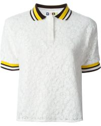MSGM Lace Polo Shirt - Lyst