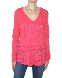 Pima Doll Perforated Hoody - Lyst