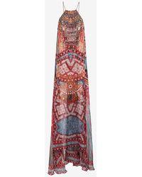 Camilla Overlay Crystal Print Dress - Lyst