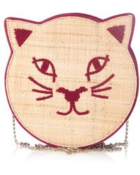 Charlotte Olympia Pussycat Embroidered Shoulder Bag - Lyst