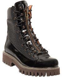 McQ | Frazer Zip Leather Boot | Lyst