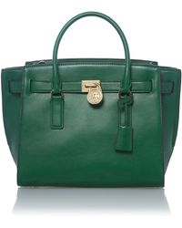 Michael Kors Hamilton Traveller Green Large Tote Bag - Lyst