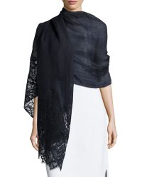 Valentino Butterfly Lace Shawl - Lyst