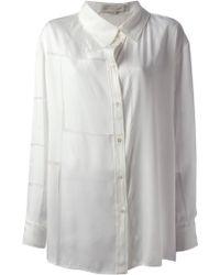 Stella McCartney White Long Shirt - Lyst