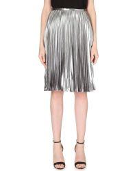 MICHAEL Michael Kors Pleated Metallic Skirt - For Women - Lyst