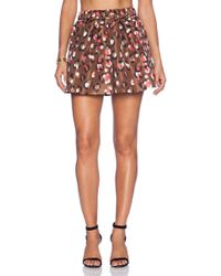 RED Valentino Brown Printed Shorts - Lyst