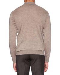 Richard James - Long-sleeved Fine-knit Cashmere Polo Shirt - Lyst