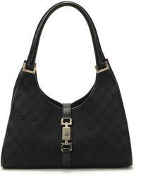 Gucci Black Canvas Handbag black - Lyst
