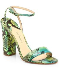 Paul Andrew Calla Multicolor Python Sandals - Lyst