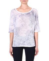 Enza Costa Printed Jersey Tshirt Whitebaltic - Lyst