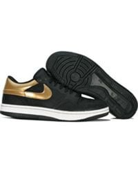 Nike Court Force Low Blk/Gld - Lyst