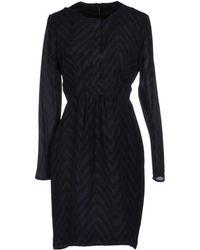Burberry Black Short Dress - Lyst