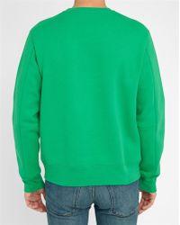 Acne | Green Corben Embossed Logo Sweatshirt | Lyst