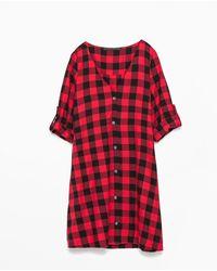 Zara Oversize Dress - Lyst