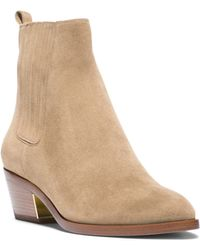 Michael Kors Patrice Suede Ankle Boot - Lyst