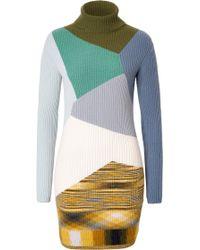 Missoni Cashmere Geometric Print Turtleneck Dress - Lyst