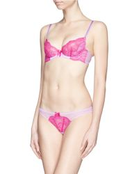 L'agent By Agent Provocateur 'Felicitia' Unpadded Lace Plunge Bra - Lyst