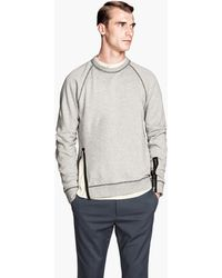 H&M Sweatshirt with Zips - Lyst
