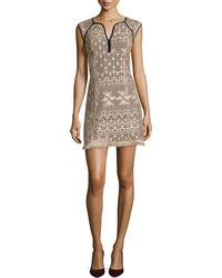 Nanette Lepore Ferocious Lace Dress With Fringed Hem - Lyst