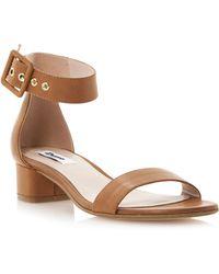 Dune Frann Two Part Block Heel Sandals - Lyst