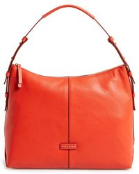 Cole Haan 'Emma' Pebbled Leather Hobo - Lyst