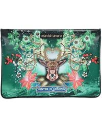 Manish Arora - Embellished & Printed Leather Pouch - Lyst