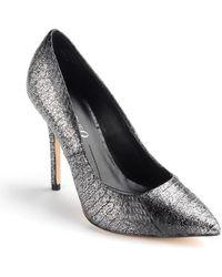 Boutique 9 Justine Snake Pumps silver - Lyst