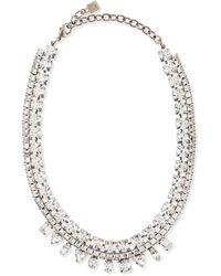 DANNIJO - Grant Crystal Bib Necklace - Lyst