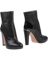 Furla Black Ankle Boots - Lyst