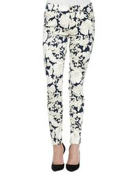 7 For All Mankind Floral-print Skinny Ankle Jeans - Lyst
