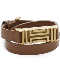 Tory Burch - For Fitbit Leather Bracelet - Bark/aged Gold - Lyst