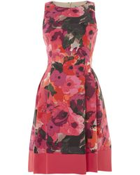 Eliza J Pansy Print Shift Dress - Lyst