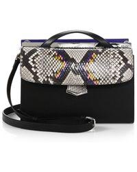 Fendi Demijour Small Leather & Python Crossbody Bag - Lyst