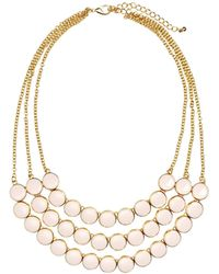 H&M Multistrand Necklace gold - Lyst