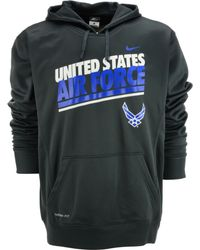 Nike Mens Air Force Falcons Thermafit Hoodie - Lyst