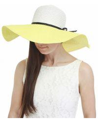 Helene Berman Contrast Woven Sun Hat - Lyst