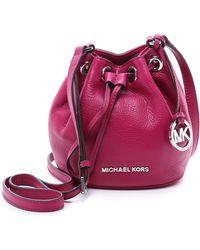 MICHAEL Michael Kors - Jules Drawstring Bucket Bag - Black - Lyst