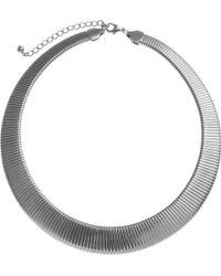 John Lewis - Silver Toned Flex Necklace - Lyst