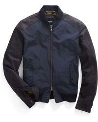 Todd Snyder Leather & Nylon Bomber Jacket - Lyst