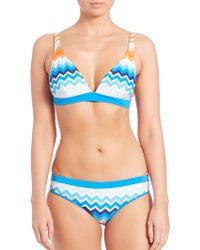 Shoshanna | Laguna Bralette Bikini Top | Lyst
