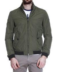 Woolrich Down Jacket Jacket Bomber Cotton - Lyst