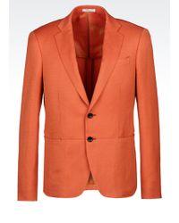 Armani Slim Fit Jacket In Technical Linen - Lyst