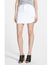 James Jeans Denim Cutoff Miniskirt - Lyst