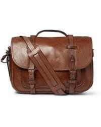 Polo Ralph Lauren Leather Messenger Bag - Lyst