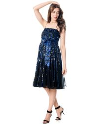 JS Boutique | Maternity Pleated Printed Dress | Lyst