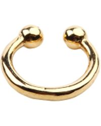 AKIRA - Not Your Bae Gold Faux Septum Ring - Lyst