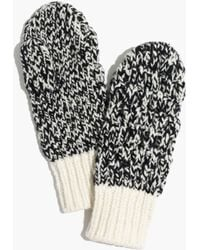 Madewell - Cabletwist Mittens - Lyst