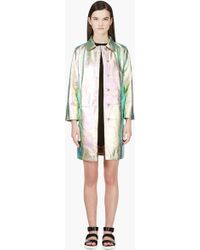 Marc By Marc Jacobs - Pink and Turquoise Iridescent Metallic Leather Coat - Lyst